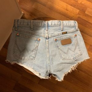Women's Wrangler Jean cut-off shorts